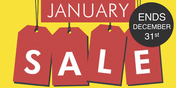 80% Of January Sales Are Over By January!