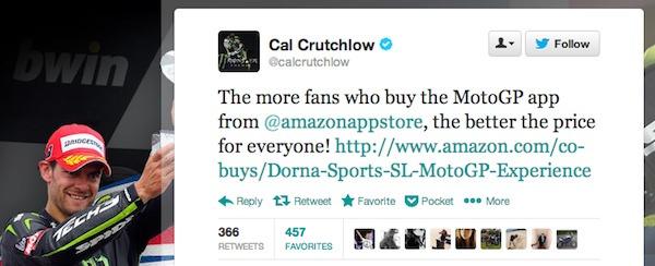 Cal Crutchlow tweet