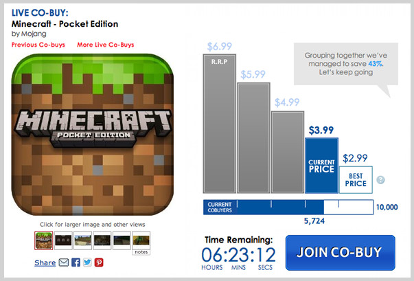 Amazon App Store Minecraft Co-buy