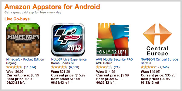 Amazon App Store for Android Co-buying Scenario
